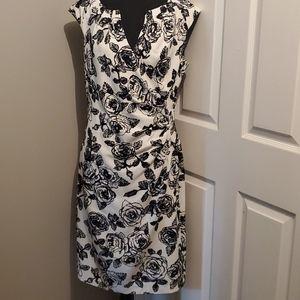 Black and white rose dress.